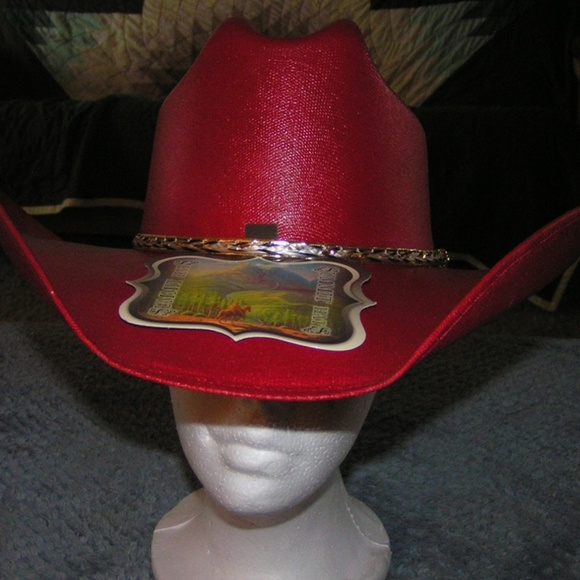 918d3a559 New Sexy Red Canvas Cowgirl/Cowboy Hat Asst'd Size Boutique